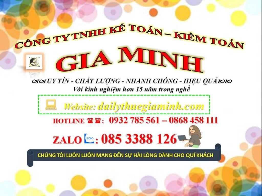 Dịch vụ khai thuế ban đầu tại Huyện Đông Giang - Quảng Nam