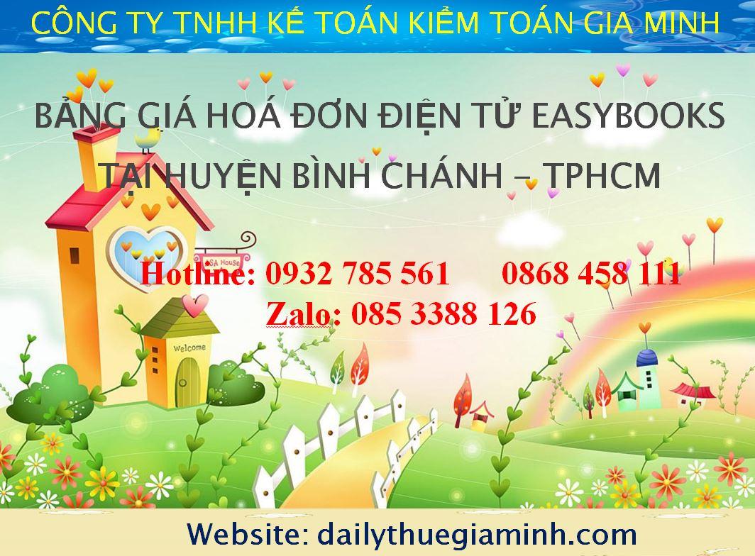bảng giá hoá đơn điện tử easybooks tại Huyện Bình Chánh - TPHCM