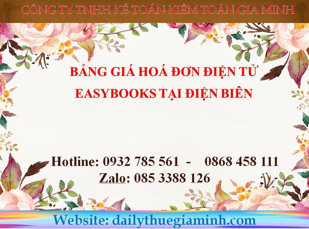 bảng giá hoá đơn điện tử easybooks tại Điện Biên
