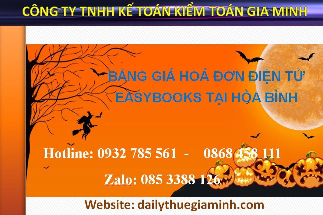 bảng giá hoá đơn điện tử easybooks tại Hòa Bình