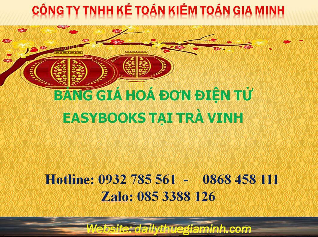 bảng giá hoá đơn điện tử easybooks tại Trà Vinh