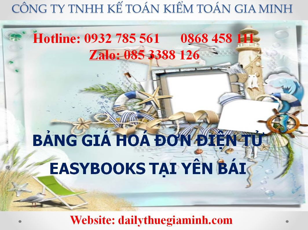 bảng giá hoá đơn điện tử easybooks tại Yên Bái