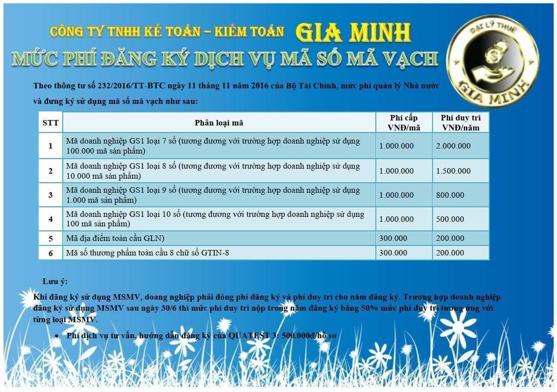 dịch vụ đăng ký mã số mã vạch tại Kiên Giang